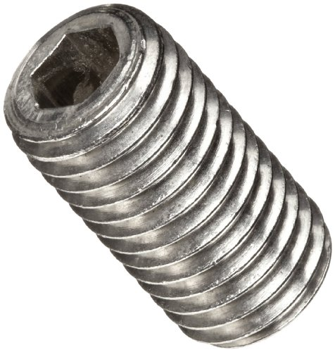 18-8 Stainless Steel Set Screw, Plain Finish, Hex Socket Drive, Cup Point, Meets ASME B18.3/ASTM F880, 5/16
