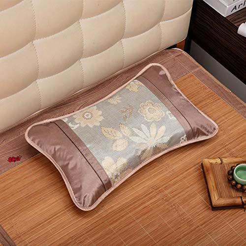 VISZC Almohada de apoyo para el cuello, almohada de bambú, almohada fresca, almohada de apoyo perfecto, alfombra de peregrino dormilón, con almohada relleno de té, 30x50cm 3-30x50cm
