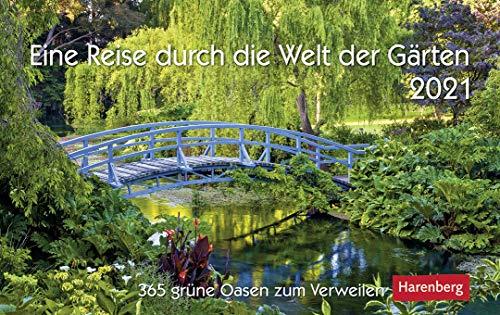 Eine Reise durch die Welt der Gärten - Kalender 2021 - Harenberg-Verlag - Tageskalender mit 365 faszinierenden Fotografien - 22,8 cm x 16,8 cm