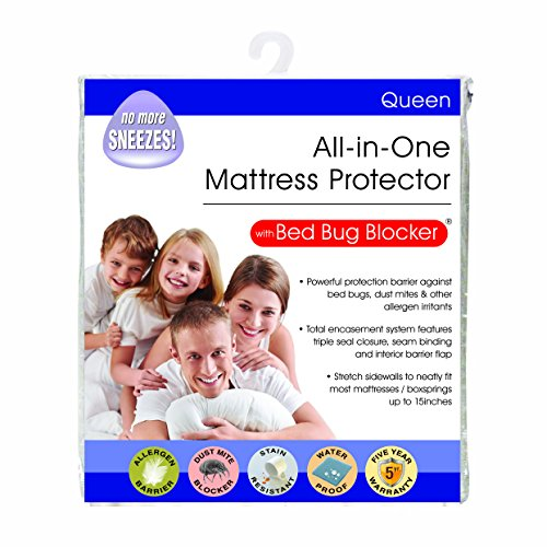 Bed Bug Blocker Hypoallergenic All In One Breathable Queen...