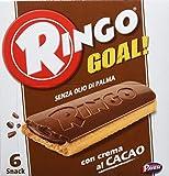 Pavesi Ringo Goal Biscotto con Ripieno al Cacao e Copertura di Cioccolato per Snack Dolce e Gustoso per la Merenda - Confezione da 6 snacks - 168 g