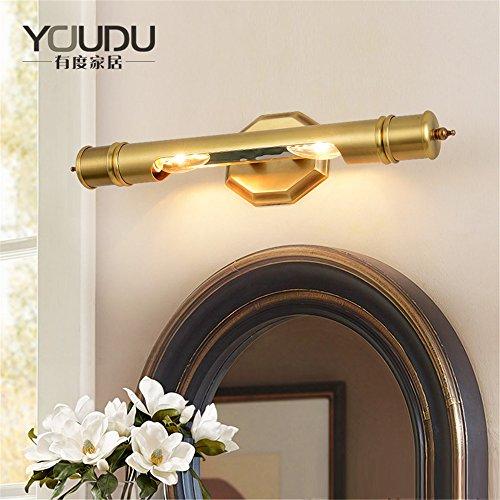 YU-K Modernes Schlafzimmer Dekoratiound Beleuchtung Spiegel modische Vintage KupferWand SanitärWC Kommode Gallery KorridorWand (45cm)