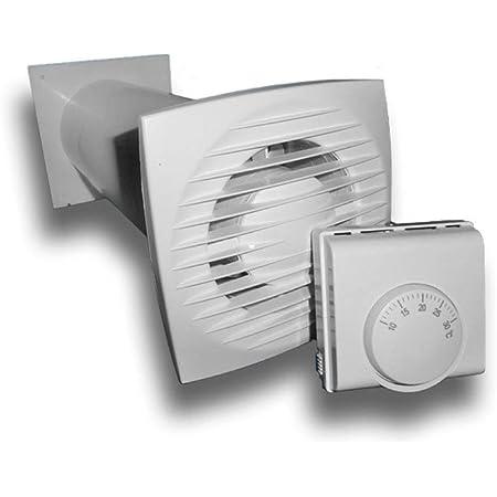 Warmluftverteiler Set Wärmeverteilung Automatisch Temperaturgesteuert Ventilator Lüfter Wärmegesteuert Temperaturgesteuert Baumarkt