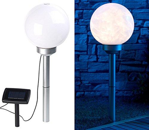 Lunartec Kugelleuchte: Solar-LED-Leuchtkugel mit rotierendem Licht-Effekt & Erdspieß, Ø 20 cm (Leuchtkugeln)