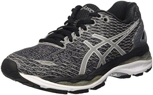 Asics Gel-Nimbus 18, Zapatillas de Running para Hombre, Multicolor (Onyx/Silver/Blue Jewel), 40.5 EU