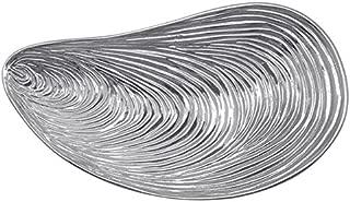 MARIPOSA Large Mussel Platter, Silver