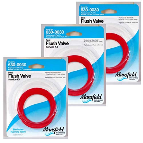 Mansfield Plumbing 0030 Flush Valve Service Pack, Fits 210/211 Flush Valve - 3 PACK