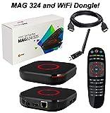 MAG 324 Original Infomir Linux HEVC H.265 IPTV Set Top Box with HDMI