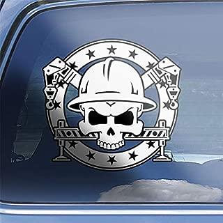 Crane Operator Skull & Crossbones Decal Sticker - CR