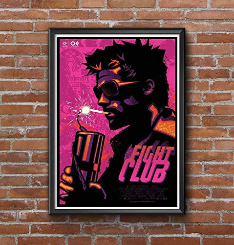 Good hope Fight Club Movie Poster Frame for Room and Office (10 X 13 Inch, Framed)