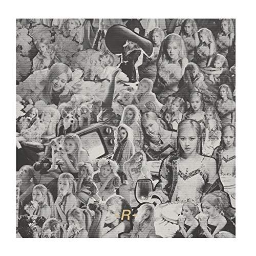 Blackpink Rose -R- 1st Solo Single Album CD+1p Double Sided Poster+98p PhotoBook+Lyrics Paer+Sticker+4p Postcard+2p Polaroid+Message PhotoCard Set+Tracking Kpop Sealed