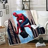 Spider-Man Kuscheldecke 150 x 200 cm,3D-Digitaldruck Muster Decke,Feecedecke aus Polyester,Weich & Bequem,Decke für Bett, Sofa, Reisen(Spider-Man-g,150 x 200 cm)