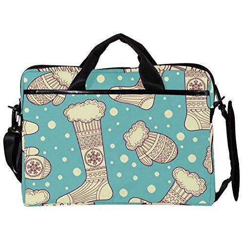 TIZORAX Laptop Messenger Shoulder Bags Mittens and Wool Socks Computer Sleeve Notebook Carrying Case 15-15.4 inch Handbag