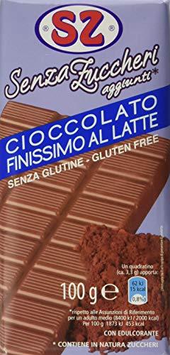Sz - senza Zucchero Cioccolato al Latte - Confezione da 15 Pacchi X 100 G