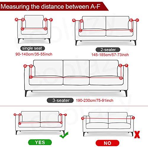 B/H Funda de Sofá Elástica Punto,Fundas de sofá elásticas para Muebles de Sala de Estar Completamente Envuelto Anti-dus-145-185cm_China,Tejido Poliéster Cubre Sofa