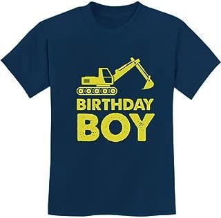 Birthday Boy Gift Idea Yellow Tractor Bulldozer Construction Party Kids T-Shirt