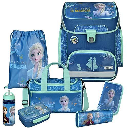 Frozen - Eiskönigin - SCOOLI Undercover EasyFit Schulranzen-Set 8tlg. mit Sporttasche, BROTDOSE und TRINKFLASCHE