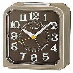 Seiko Bell Alarm Clock with Snooze & Light - Light Gold