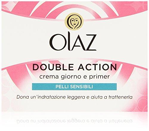 Olaz Doppia Azione, Crema Giorno e Primer, Pelli Sensibili, Idratante, Skincare 1 pz