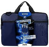 Port Designs Liberty Bundle - Funda para maletín de 15.6' (Incluye ratón con Cable) Color Azul