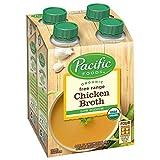 Pacific Foods Organic Free Range Chicken Broth, Low Sodium, 8 oz, 4 Count