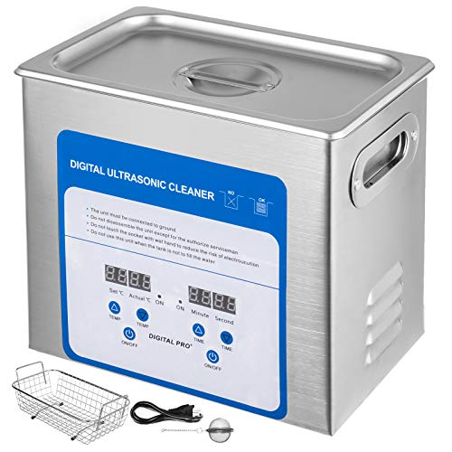 Mophorn 3.2L Professional Ultrasonic Cleaner 320W 304 and 316 Stainless Steel Digital Lab Ultrasonic Cleaner with Heater Timer for Jewelry Watch Glasses Circuit Board Dentures Small Parts