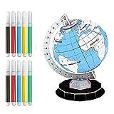 Skyeye Juguetes para Niños Juego De Juguetes para Niños Learning Puzzle DIY Globo De Plástico para Colorear Conjunto De Juguetes Educativos