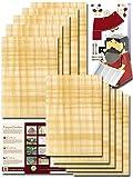 Papyrus 10 hojas de papiro en blanco, 30 x 20 cm, de Egipto, color natural