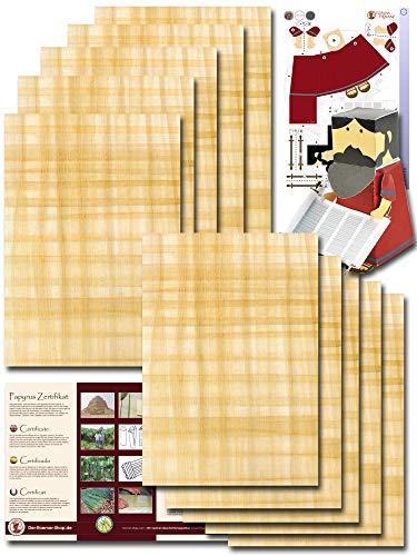 Papyrus-Blätter 10 Blatt Natur-Papyrus 30x20cm aus Ägypten für Schulen & Kunst-Unterricht kostenloser Bastelbogen - Blanco Hochzeitskarten aus Papyri – Hieroglyphen Papyrus Blatt, Einladung Hochzeit - Taufe - Geburtstag - Jubiläum - Abschied