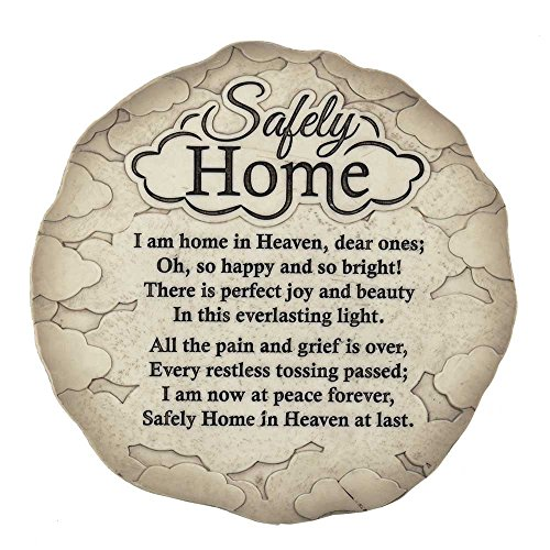 Dicksons Safely Home Memory Quote Textured 9.75 x 9.75 Resin Garden Stepping Stone Plaque