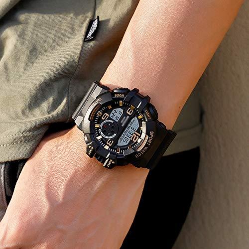 Reloj Deportivo para Hombre, Reloj Digital Luminoso Resistente Al Agua, Reloj Electrónico Multifunción para Estudiantes, 50 M De Profundidad Resistente Al Agua D