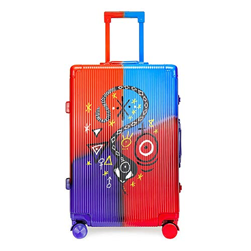 Suitcase Trolley, Suitcase Luggage,Graffiti Art, Fashion Trends,Carry on Hand Cabin Luggage Hard Shell Travel Bag Lightweight,Durable 4 Spinner Wheels,20 inch