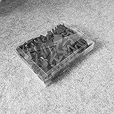 Z-NING 180PCS imán Letras Pared Alfabeto Pegatinas de refrigerador Etiqueta de imán de refrigerador Espuma Letras en Blanco y Negro, negro1