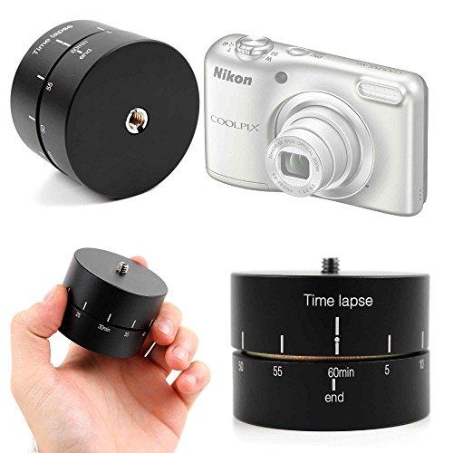 DURAGADGET Base para Trípode para Cámara Cámara Sony Alpha ILCA77-M2 / Nikon Coolpix A10 Silver/Polaroid IX828 / Canon Powershot G3X / Stoga CGT001 - con Rotador Panorámico 360° + Gamuza - 60 Minutos