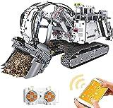 Kit de bloques de construcción para excavadora con aplicación / control remoto de 2,4 GHz, juguete de construcción compatible con Lego Technic
