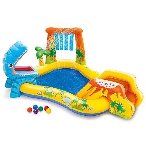 WJXBoos Kinder Aufblasbares Spielzentrum,Familie Aufblasbare Pools,Sommer Aufblasbare Baby-badewanne,Hinterhof Wading Pool,Splash Pool Volle GrÖße 248x191x109 cm