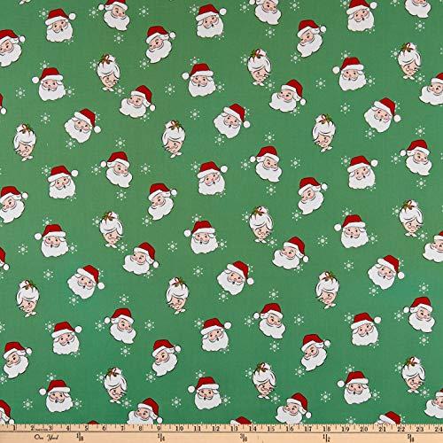 Riley Blake Santa Claus Lane Main Green Quilt Fabric By The Yard