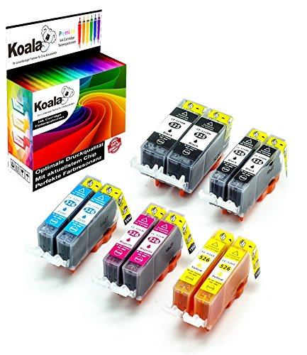Koala 10 Druckerpatronen kompatibel für Canon PGI-525 CLI-526 PGI525 CLI526 für Canon Pixma MX885 MX895 IP4850 IP4950 IX6550 MG5150 MG6250 MG8150 MG8250 2*BK 2*PBK 2*C 2*M 2*Y