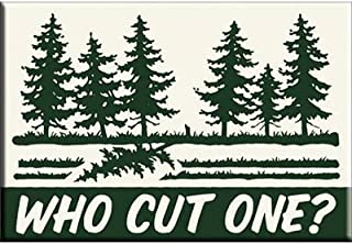 (2x3) Who Cut One Funny Locker Refrigerator Magnet by Poster Revolution