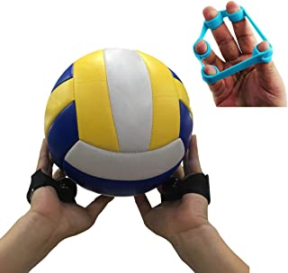Volleyball Training Aid - Great Sport Set Rite Ideal for Proper Hand Placement for Setting - 2 Adjustable Straps with Finger Stretcher