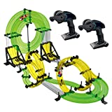 REMOKING RC Track Car, Rail Race RC Track Car Toys 860cm Build Your Own 3D Super Track Ultimate Slot Car Playset 2 Cars 2 Remote Controller Party Game Kids Friends