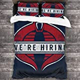 FDASLJ GI Joe Cobra Commander were Hiring 3 Pieces Bedding Set Duvet Cover 86'' x70,Queen Decorative 3 Piece Bedding Set with 2 Pillow Shams