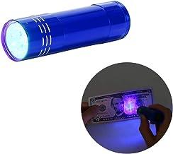 ViiTech 9 LED Black Light UV Flashlight, Aluminum Alloy Mini Light Torch Detector for Pet Urine Stains, Bed Bugs, Authenti...