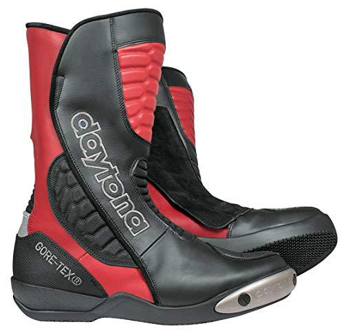 Daytona Boots Motorradschuhe, Motorradstiefel lang Strive GTX Sportstiefel rot/schwarz 45, Unisex, Sportler, Ganzjährig, Leder