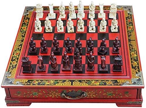 Lloow Magnetischer Schachbrett, dreidimensionaler Schach Kreativer Desktop, Holzschachbrett für Erwachsene und Studenten, Schachfiguren Zeichnungen