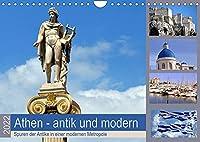 Athen - antik und modern (Wandkalender 2022 DIN A4 quer): Bei Nachrichten aus Athen geht es meist nur noch um Staatsschulden, Kredite oder gar Grexit, dabei ist Athen eine wundervolle und sehenswerte Stadt. (Monatskalender, 14 Seiten )
