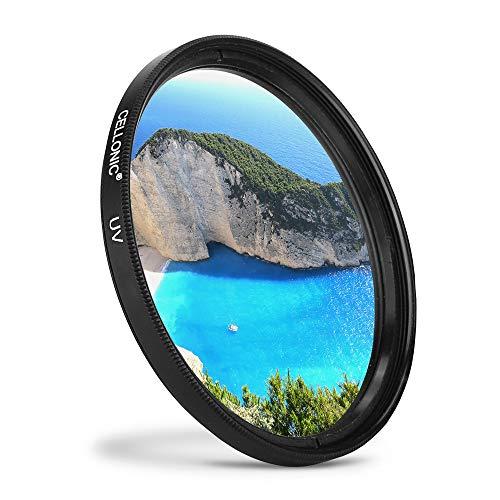 CELLONIC® Filtro UV Compatibile con Nikon AF-P DX Nikkor 70-300 mm 1:4.5-6.3, 55–300mm f/4.5–5.6, AF-S Nikkor 50mm f/1.4, AF-S 50mm 1:1.8G (Ø 58mm) Filtro Protezione