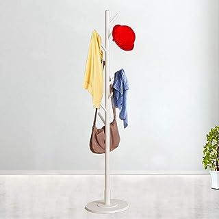 Jacksking Porte-Manteau en Bois, assemblé en Bois Manteau Chapeau Support Arbre Veste Tissu Vertical Cintre Rack 8 Crochet...