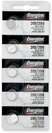Energizer 395 / 399 Silver Oxide 5 Batteries (SR927W /...