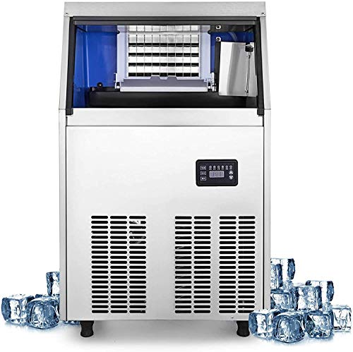 Dpliu Kommerzielle Eisherstellermaschine 77Lbs / 24H Edelstahl 40 Eiswürfel pro Platte Industrie-EIS-Hersteller-Maschine for Bar Startseite Supermärkte